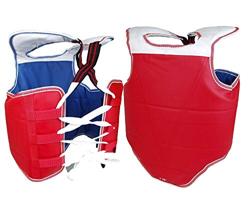 PROWIN1 New Martial Arts Chest Guard Reversible Body Protector Taekwondo Sparring Gear (Child Large) ()