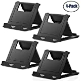Cell Phone Stand,4 Pack Tablet Stand,Universal Foldable Multi-angle Pocket Desktop Holder Cradle for Tablets(6-11'),iPhone X/8/7 Plus/7/6s/6/5/4 SE iPad mini, Nintendo Switch Samsung Galaxy,Black