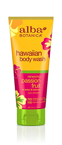 Alba Botanica Renewing Passion Fruit Hawaiian Body Wash, 7 oz.
