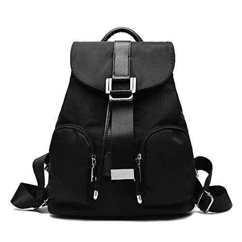 a32a8892b59d Backpack for women girl Weitine Brand casual Nylon waterproof backpack  purse travel work shool bag (blue black) - Buy Online in Oman.