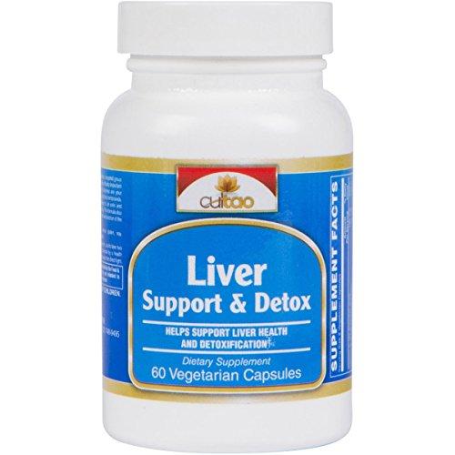 Liver Cleanse Detox & Support Supplement - Ultimate Detoxifier & Energy Regenerator - Comprehensive Formula 16 Nutrients And Premium Herbs: Milk Thistle, NAC, Turmeric, Artichoke, Dandelion - 60 Vcaps