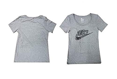 - Nike Women's City Print T-Shirt 799776 (Heather Grey/Black, X-Large)