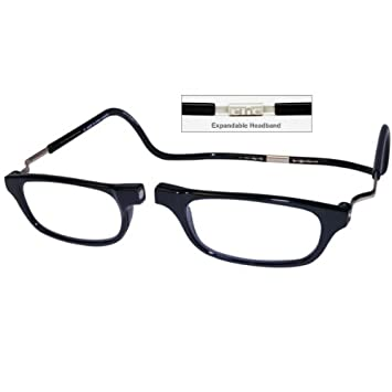 5412364c2351 Image Unavailable. Image not available for. Color  CliC +1.50 Diopter  Magnetic Reading Glasses  Expandable ...
