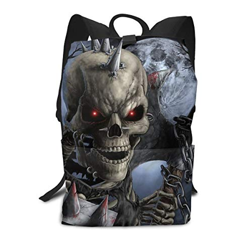 Casual Backpck Big Capacity Anti-Theft Multipurpose Carry-On Bag Backpack for Gym Picnic Walking Cycling - Halloween Scary Horror Skeleton Skull, Traveling & Camping Backpack -