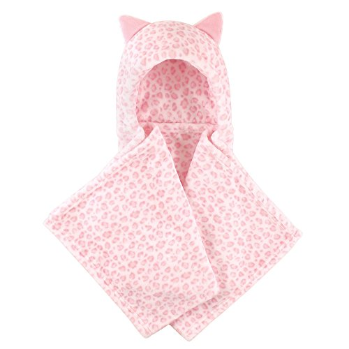 - Hudson Baby Unisex Baby and Toddler Hooded Plush Blanket, Leopard, One Size