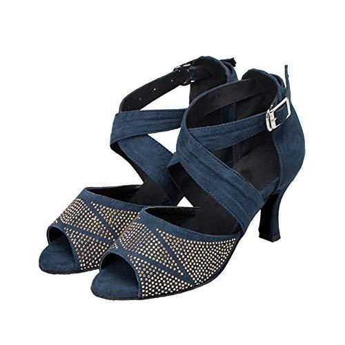 Latino Hebilla Moderno Las Pelo Whl Zapatos Blue6cm Diamante De Mujeres Cinturón Salón ll Interior Sandalias Alto Tacón Baile Imitación Show Cruzado Danza qznB6APz