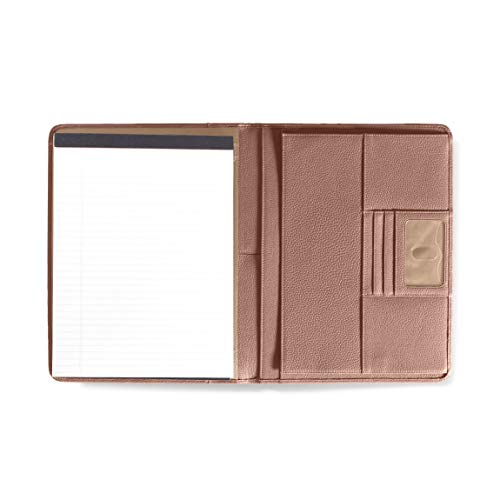 Left Handed Deluxe Folio - Full Grain Leather Leather - Mauve (Pink) -