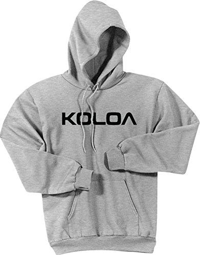 Joe's USA Koloa Text Logo Hoodies-Hooded Sweatshirt-Ash-3XL ()