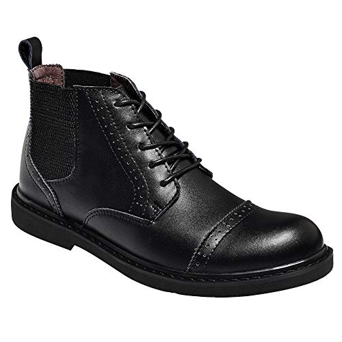 Man Ankle Classic Boots martellata Rosegal Boot pelle in nera tqUSEwTE