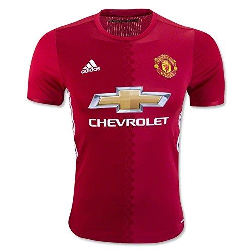 売り手上院議員シリーズAdidasメンズManchester United 16 / 17 AuthenticホームReal Red/Power Red/White Jersey
