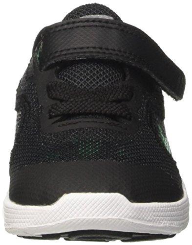 Nike Revolution 3 (TDV), Zapatillas infantil, Negro (Black/Stadium Green/Cool Grey/White), 19.5 EU