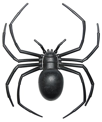 Halloween Decorations Fake Plastic Black Widow Spider, 6 Inch ()
