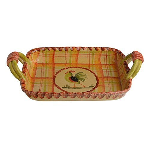 Italian Dinnerware - Rectangular Casserole Dish with Handles - Handmade in Italy from our Il Canto del Sol Collection