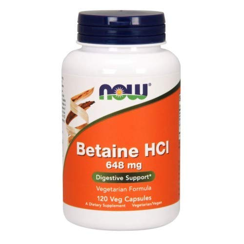 Betaine HCl, 648 mg, 120 Caps by Now Foods (Pack of 6)