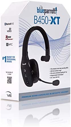 BlueParrott B450-XT Noise Cancelling Bluetooth Headset – Industry Leading Sound with Long Wireless Range, Extreme Comfort and Up to 24 Hours of Talk Time