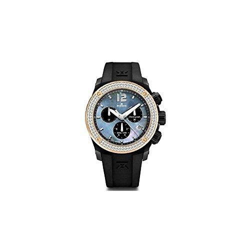Edox Women's 10411 37NR120D NANN Chronoffshore Analog Display Swiss Quartz Black Watch