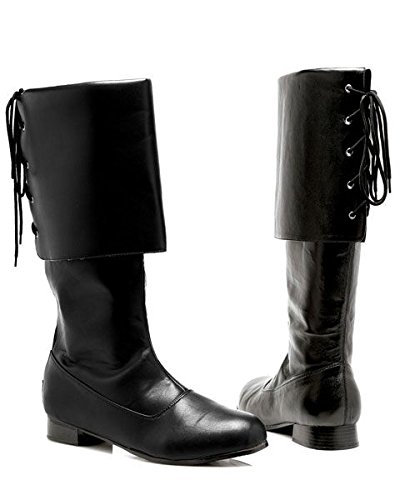 Sparrow Black Boots Adult Costume Shoes - Large