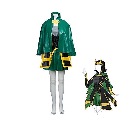 Loki Costumes Cosplay for Women,Thor: Ragnarok Deluxe Movie