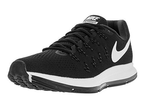 Nike Mens Air Zoom Pegasus 33 Running Shoe Black/White-Anthracite-Cool Grey 9.5 (Black Grey Air)