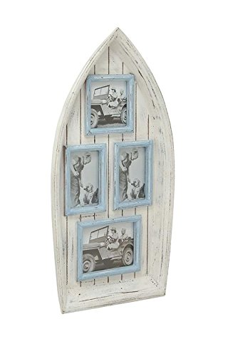 Deco 79 20450 Trendy Wood Boat Wall Photo Frame, 15