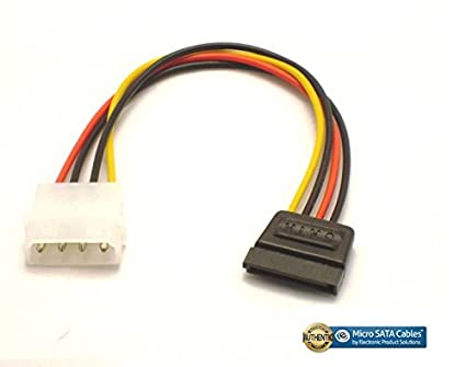 amazon com molex 4 pin power to 15 pin sata female adapter cableimage unavailable image not available for color molex 4 pin power to 15 pin sata female adapter