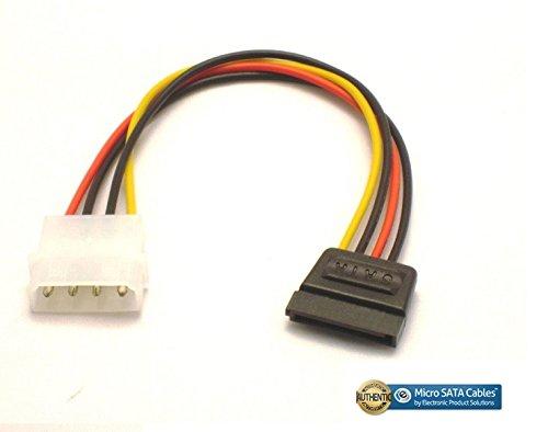 amazon com: molex 4 pin power to 15 pin sata female adapter cable - 6