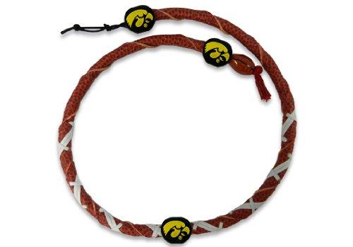 NCAA Iowa Hawkeyes Classic Spiral Football Necklace
