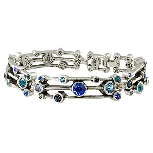Patricia Locke Singin' in The Rain Bracelet in Silver, True Blue Color Story