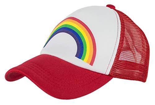 - Rainbow Pride Foam Trucker Hat (Red)