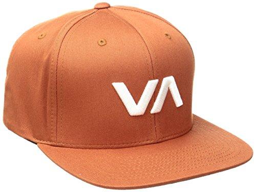 RVCA Men's VA Snapack II Hat, Dark Orange, One Size Burnt Orange Classic Mesh