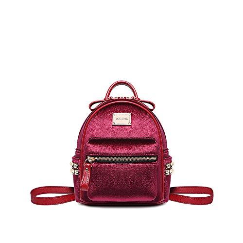 Vin 8 et Bon Du Bandoulière Edition Fashion Minimaliste Du Red Velvet Red 17 Vin Sac 5 À Fille Mini Et Rivet Edition Sac 20 5Cm Bon vxnCqg6a