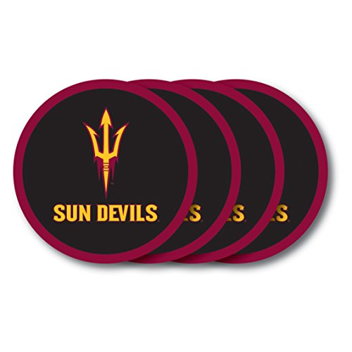 NCAA Arizona State Sun Devils Vinyl Coaster Set (Pack of 4) ()