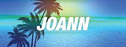 Amazon com: Any and All Graphics JOANN name on 8