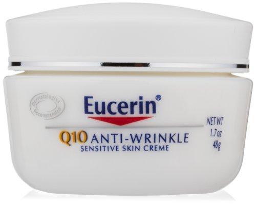 Eucerin Q10 anti-rides Crème Peau Sensible, 1,7 once Jar