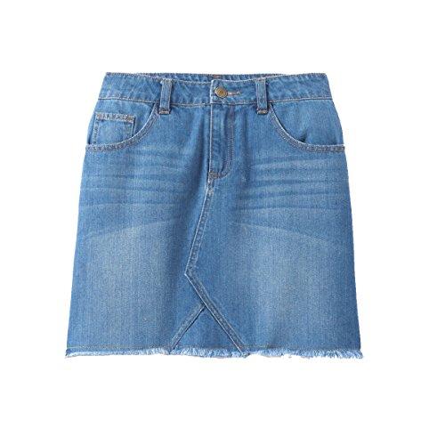 La Redoute Collections Big Girls Raw Edge Denim Skirt, 10-16 Years Blue Size 16 Years - 63 In. - Edge Denim Skirt