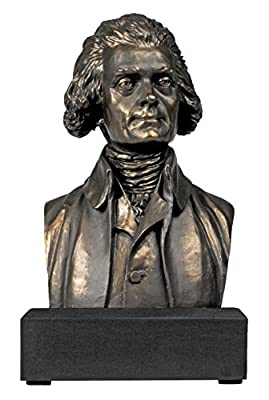 Great Americans Desktop Thomas Jefferson Bust Figurine Statue Sculpture - Founding Father