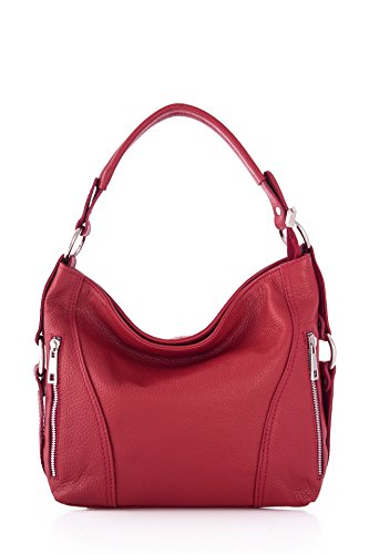 Bag Leather Red Shoulder Red Morbido For 26x12x24 Woman Marant WanTH