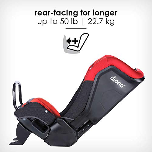 41tJoiw0pLL - Diono Radian 3QX 4-in-1 Rear & Forward Facing Convertible Car Seat | Safe+ Engineering 3 Stage Infant Protection, 10 Years 1 Car Seat, Ultimate Protection | Slim Design - Fits 3 Across, Red Cherry