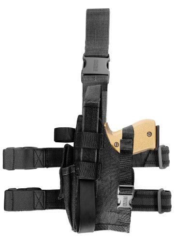 BLACKHAWK! Omega VI Elite Black Holster, Size 42, Right Hand, (S&W 5906/Beretta 92F) Ballistic Nylon Thigh Holster