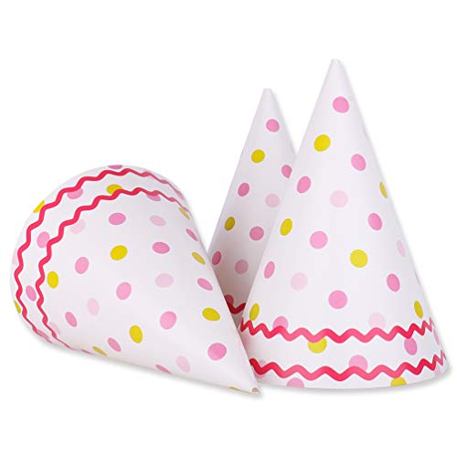 pink birthday cone hats - 4