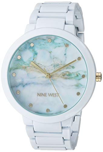 Nine West Women's NW/2274MAWT Rubberized White Bracelet Watch
