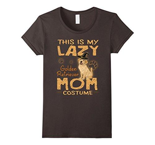 Halloween Costumes For Golden Retrievers - Womens This Is My Lazy Golden Retriever Mom Costume Halloween Shirt XL Asphalt