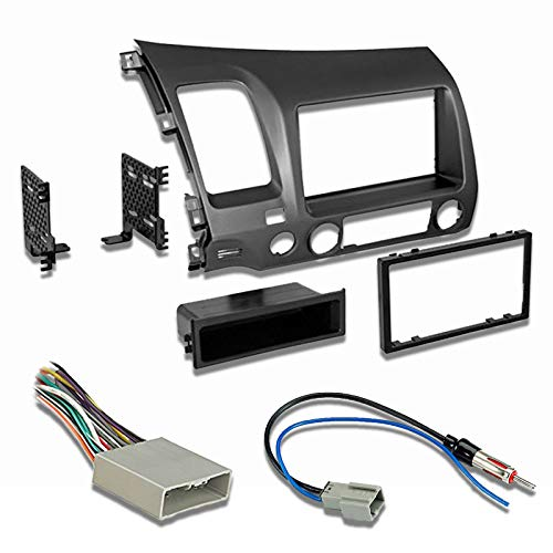 - Car Radio Stereo CD Player Dash Install Mounting Trim Bezel Panel Kit + Harness
