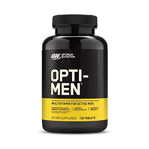 Optimum Nutrition Opti-Men, Vitamin C, Zinc and Vitamin D, E, B12 for Immune Support Mens Daily Multivitamin Supplement…