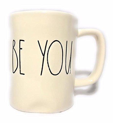 Emmas Treasures Collection - Rae Dunn Magenta Artisan Collection Mug BE YOU