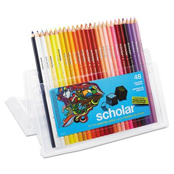 Scholar Colored Woodcase Pencils, 48 Assorted Colors/Set, One random color will be shipped
