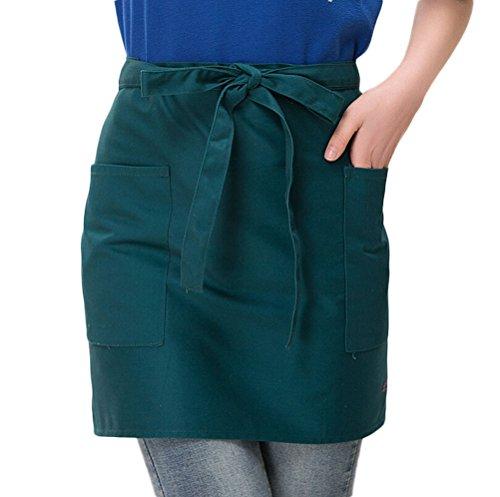 - Nanxson(TM) new unisex short bistro apron hotel chef apron AL8029 green