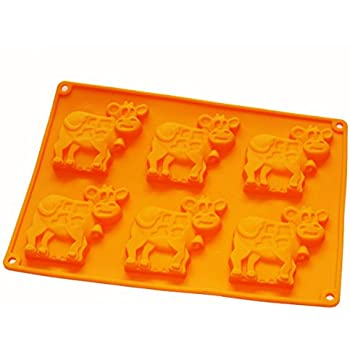X-Haibei Dairy Cow Flexible Silicone Mold Cookies Chocolate Candy Soap for Homemade