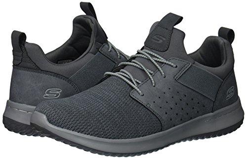 Skechers mens Classic Fit-delson-camden Sneaker, Grey, 9 Wide US