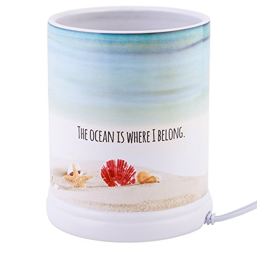 Elanze Designs Shake The Sand from Shoes Beach and Ocean Stoneware Electric Jar Candle Warmer by Elanze Designs (Image #2)